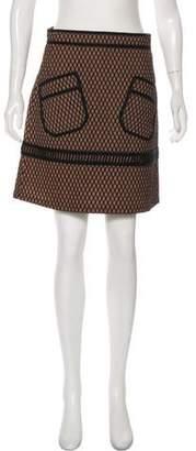 Leroy Veronique Mesh A-Line Mini Skirt