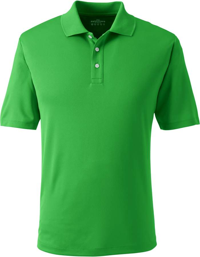 Lands'end Men's Big Short Sleeve Solid Active Polo