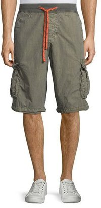 James Perse Surplus Drawstring Cargo Shorts, Taupe $165 thestylecure.com