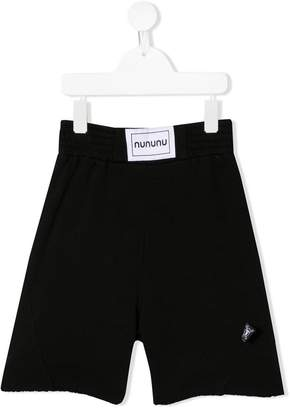 Nununu logo patch track shorts