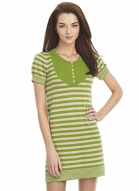 Juicy Couture Stripe Sweater Front Yoke Dress