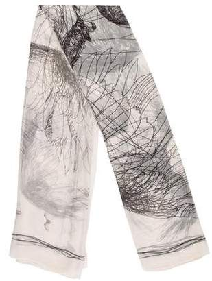 Alexander McQueen Printed Satin Scarf