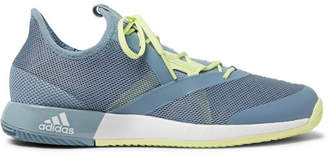 adidas Sport - Adizero Defiant Bounce Rubber-Trimmed Mesh Tennis Sneakers - Blue