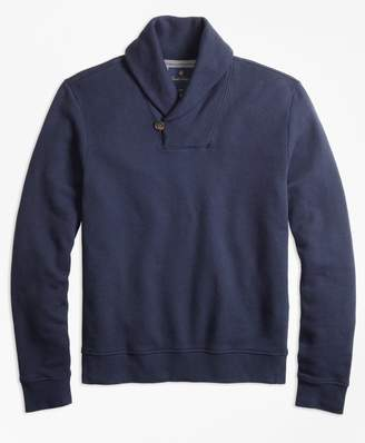 Brooks Brothers French Terry Shawl Collar Fleece