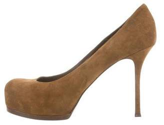 Saint Laurent Suede Tribute Two Platform Pumps