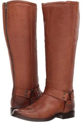 Frye Phillip Harness Tall Wide Calf Women's Zip Boots
