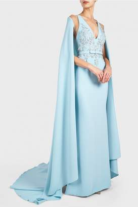 Georges Hobeika Beaded Cape Gown