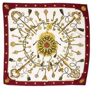 Hermes Les Cles Silk Scarf