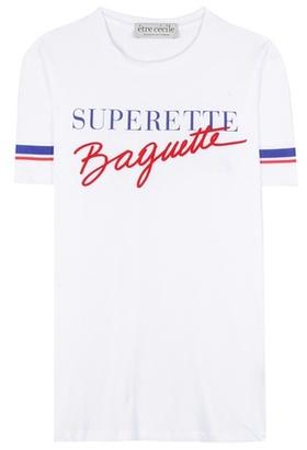Être Cécile Printed cotton T-shirt