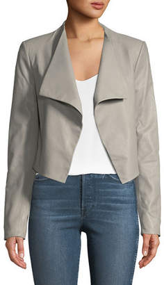 Theory Crossover Paperweight Leather Jacket