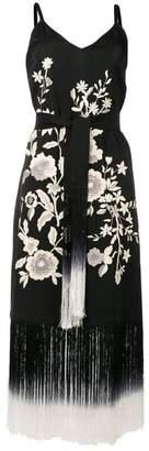 Twin-Set fringed midi dress