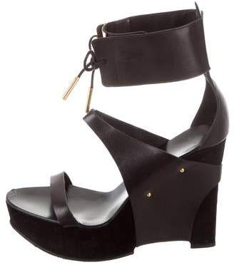Maiyet Leather Wedge Sandals