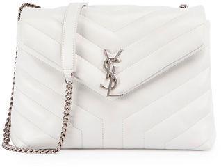 Saint Laurent Loulou Monogram Small Y-Quilted Chain Shoulder Bag $1,850 thestylecure.com