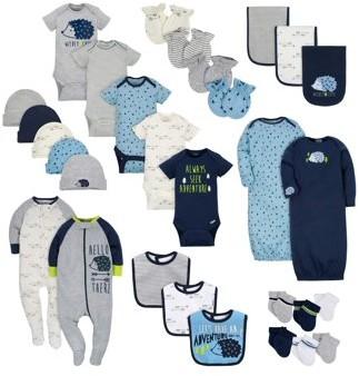 Gerber Layette Essentials Baby Shower Gift Set, 30pc (Baby Boy)