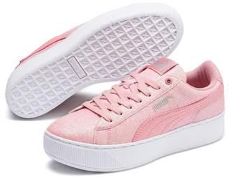 Puma Girls Vicky Platform Junior Trainer - Pink
