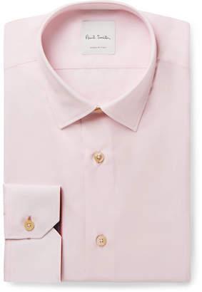 Light-Pink Soho Slim-Fit Cotton-Poplin Shirt