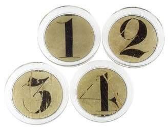 John Derian Set of 4 Découpage Numeric Coasters