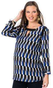 A Pea in the Pod Long Sleeve Keyhole Detail Maternity Blouse