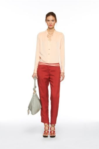 Gisi Pants in Brick Red