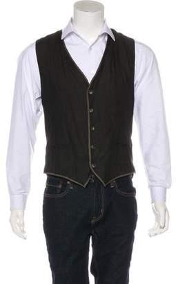 Dolce & Gabbana Linen & Silk Suit Vest