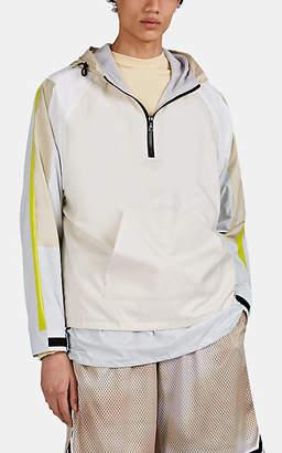John Elliott Men's Hooded Half-Zip Windbreaker Jacket - Beige, Tan