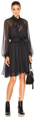 Chloe Silk Crepon Dress