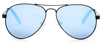 GUESS Men's 57mm Aviator Sunglasses