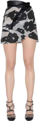 Blumarine Asymmetrical Fil Coupe Skirt
