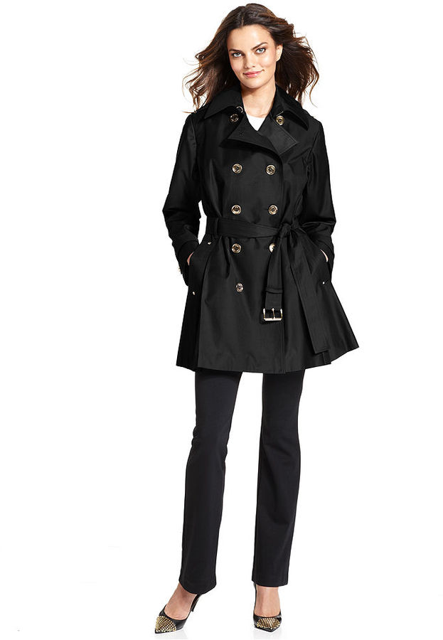 MICHAEL Michael Kors Coat, Double-Breasted Belted Trench