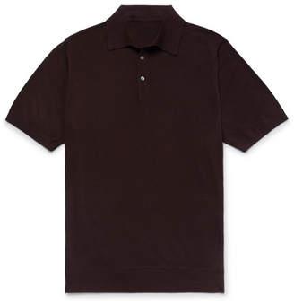 P. Johnson Slim-Fit Super 160s Merino Wool Polo Shirt