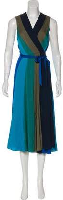 Diane von Furstenberg Penelope Silk Sleeveless Wrap Dress