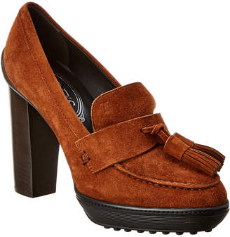 Tod's Suede Moccasin Pump