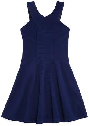 Sally Miller Girls' Textured Fit-and-Flare Dress