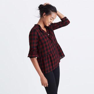 Lakeside Peplum Shirt in Buffalo Check $79.50 thestylecure.com