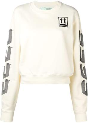 Off-White embroidered sweatshirt