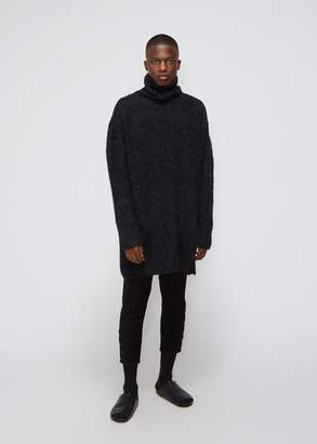 Yohji Yamamoto Parallel Yarn Fleece Slit Open Turtleneck