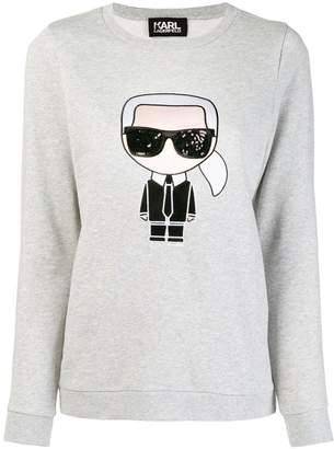Karl Lagerfeld iconic sweatshirt