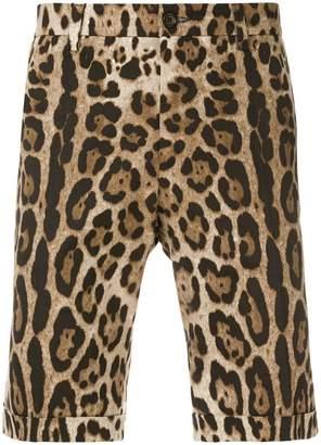 Dolce & Gabbana leopard print shorts