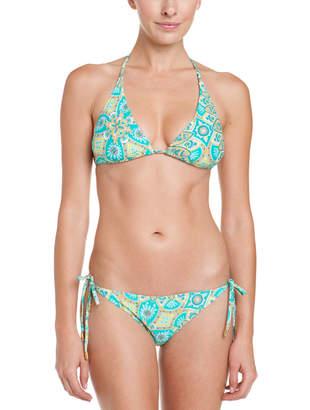 Helen Jon Jamie Sea Print String Bikini Bottom