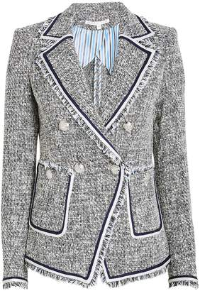 Veronica Beard Theron Tweed Double Breasted Blazer