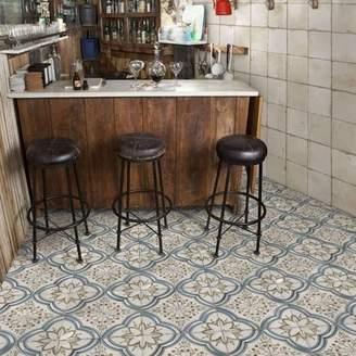 EliteTile SAMPLE-Alcaza 17.63 x 17.63 Ceramic Floor and Wall Tile in Blue/Beige