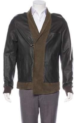 Robert Geller Leather Shawl-Lapel Jacket
