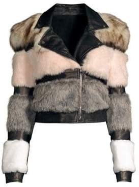 The Mighty Company Bristol Faux Fur& Leather Moto Jacket