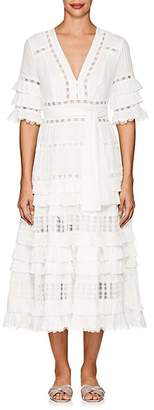 Zimmermann Women's Corsair Cotton Tiered Maxi Dress