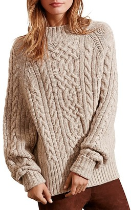 Lauren Ralph Lauren Cable Knit Sweater $165 thestylecure.com