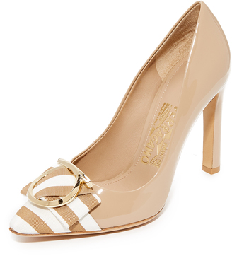 Salvatore Ferragamo Ezia 100mm Pumps $695 thestylecure.com