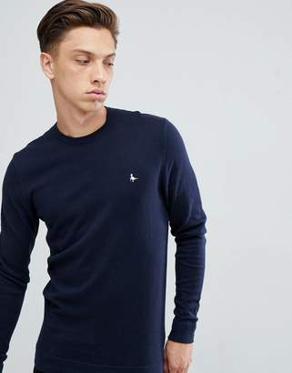 Jack Wills Seabourne crew neck sweater in navy
