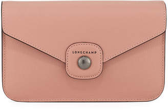 Longchamp Leather Flap-Top Crossbody Bag