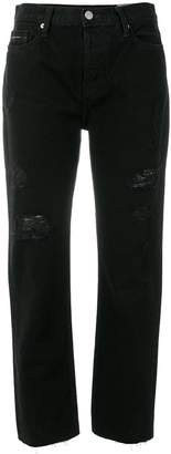CK Calvin Klein cropped slim-fit jeans