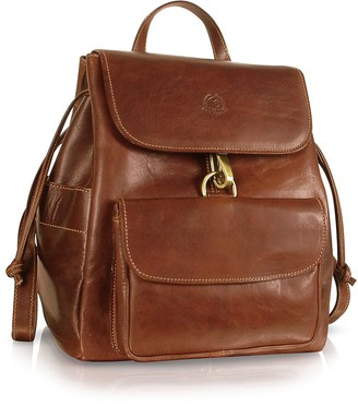 Chiarugi Handmade Brown Genuine Leather Backpack